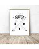 Poster with bicycle MTB 2