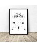 Plakat z rowerem MTB