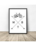 Poster with bicycle MTB