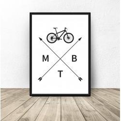 """Plakat z rowerem """"MTB"""""""