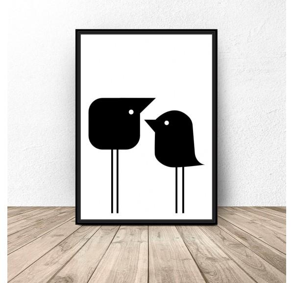 Plakat Dwa małe ptaszki