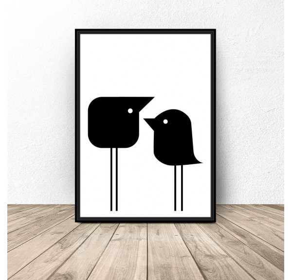 Poster Two little birds
