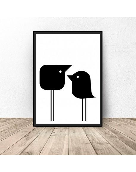 """Plakat """"Dwa małe ptaszki"""""""