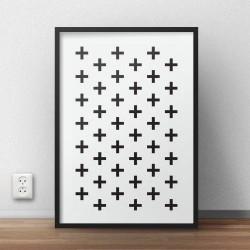 """Plakat w krzyżyki """"Swiss cross"""""""