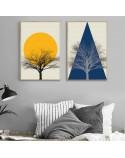 Kolorowy plakat Mountain tree 3