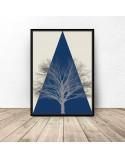 Kolorowy plakat Mountain tree