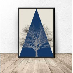 "Kolorowy plakat ""Mountain tree"""