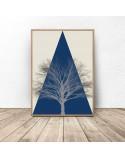 Kolorowy plakat Mountain tree 2