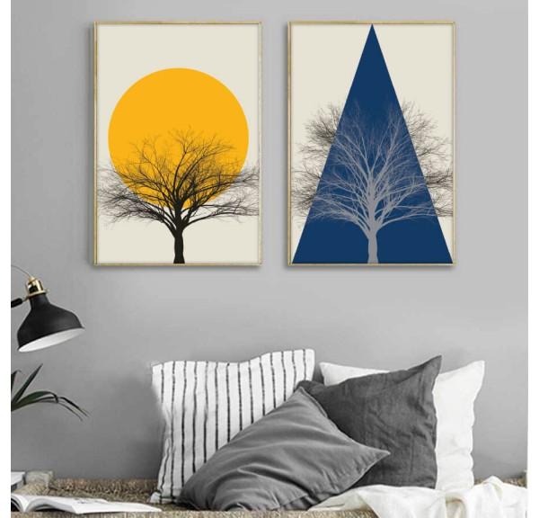 Zestaw dwóch plakatów abstrakcyjnych