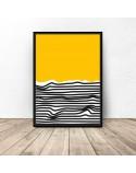 Abstrakcyjny plakat Plaża