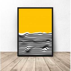 """Abstrakcyjny plakat """"Plaża"""""""