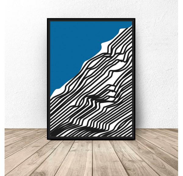 Abstrakcyjny plakat Woda
