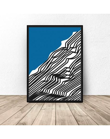 """Abstrakcyjny plakat """"Woda"""""""