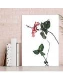 Plakat z różowym kwiatem 3