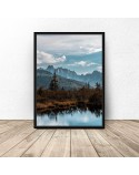 Plakat Jezioro w górach 2