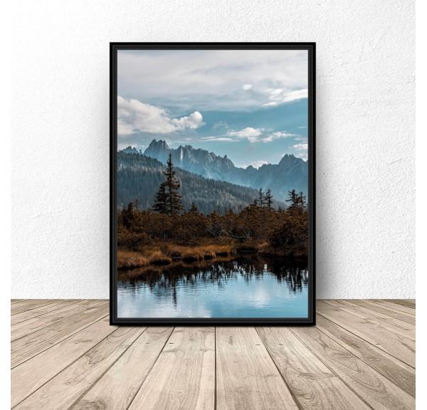 Plakat Jezioro w górach