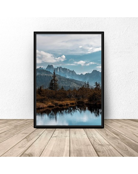 """Plakat """"Jezioro w górach"""""""