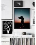 Plakat Kobieta i księżyc 2