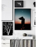 Poster Woman and moon 2