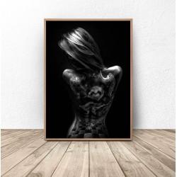 """Plakat """"Dziewczyna z tatuażem"""""""