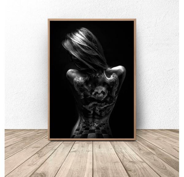 Plakat Dziewczyna z tatuażem