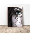 Poster Eye in glitter 3