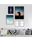 Set of 5 posters Lunar composition