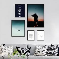 """Zestaw 5 plakatów """"Księżycowa kompozycja"""""""