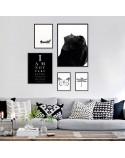 Set of 5 posters Elegant