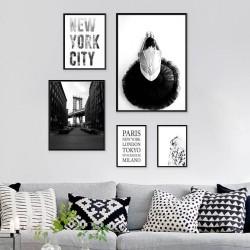 """Zestaw 5 plakatów """"Baletnica w Nowym Jorku"""""""