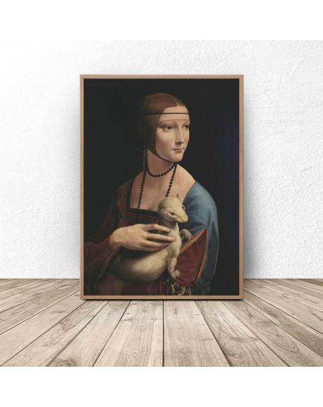 """Plakat reprodukcja """"Dama z łasiczką"""" Leonardo da Vinci"""