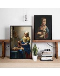Poster reproduction of Leonardo da Vinci's Lady with a Weafer 2