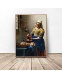 Poster reproduction of Milkman Jan Vermeer
