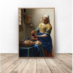 "Plakat reprodukcja ""Mleczarka"" Jan Vermeer"