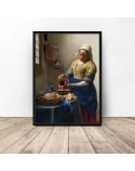 Plakat reprodukcja Mleczarka Jan Vermeer 3