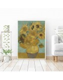 Poster reproduction of Sunflowers vincent van Gogh 2