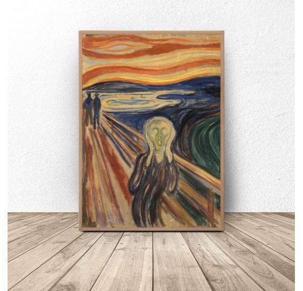 Plakat reprodukcja Krzyk Edvard Munch