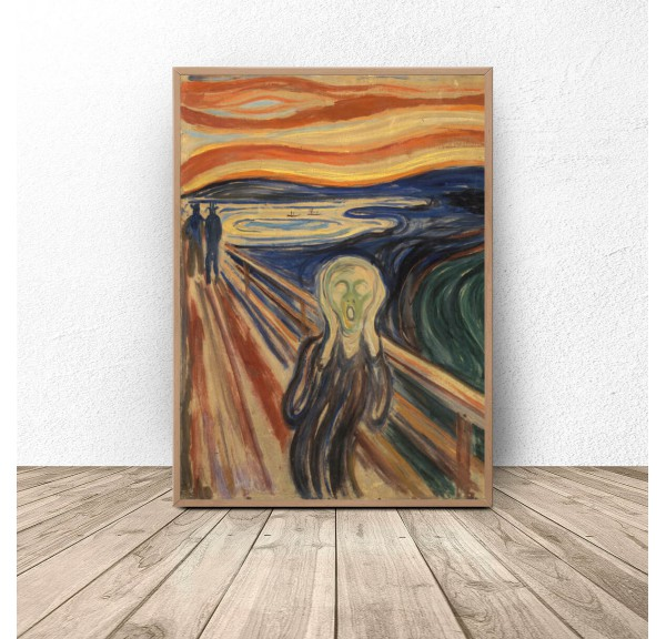 Poster reproduction of Scream by Edvard Munch