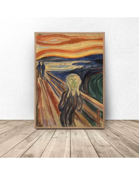"Plakat reprodukcja ""Krzyk"" Edvard Munch"