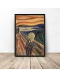 Plakat reprodukcja Krzyk Edvard Munch 3