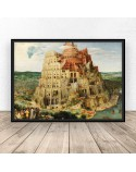 Poster reproduction of Tower of Babel by Peter Bruegel