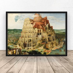 "Plakat reprodukcja ""Wieża Babel"" Peter Bruegel"