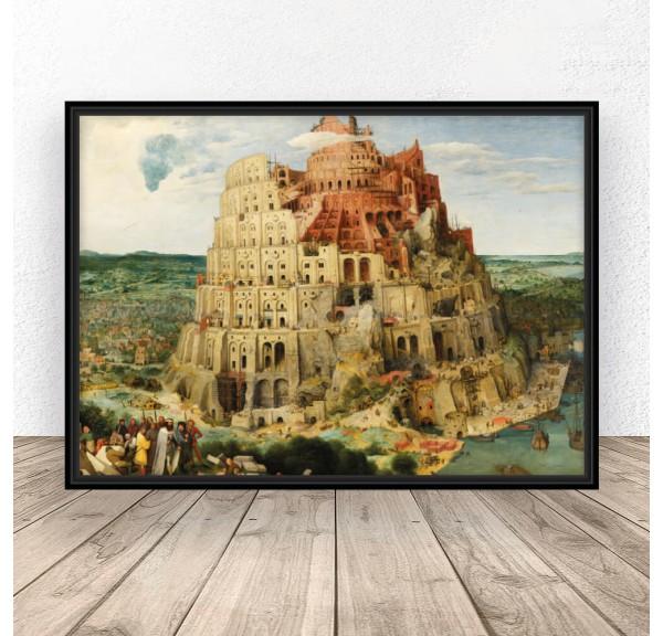 Plakat reprodukcja Wieża Babel Peter Bruegel