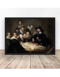 Plakat reprodukcja Lekcja anatomii doktora Tulpa Rembrandt
