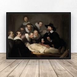 "Plakat reprodukcja ""Lekcja anatomii doktora Tulpa"" Rembrandt"