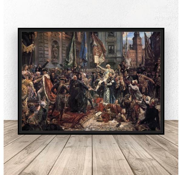 Poster reproduction Constitution May 3 Jan Matejko