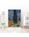 Plakat reprodukcja Droga z cyprysem i gwiazdą Vincent van Gogh 2