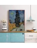 Plakat reprodukcja Droga z cyprysem i gwiazdą Vincent van Gogh 3