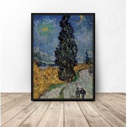 "Plakat reprodukcja ""Droga z cyprysem i gwiazdą"" Vincent van Gogh"