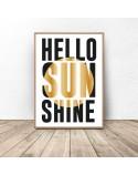 Typographic poster Hello Sunshine